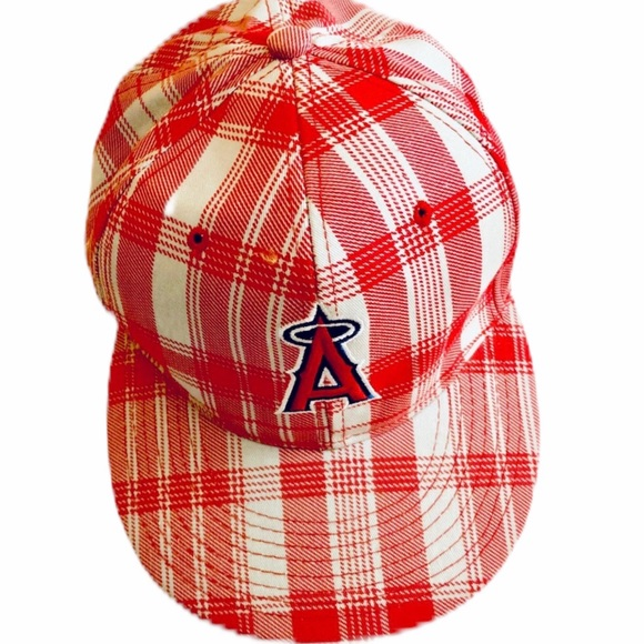usa cheap sale big discount on feet at Accessories | Los Angeles Angels Mlb Red Plaid Baseball Cap | Poshmark